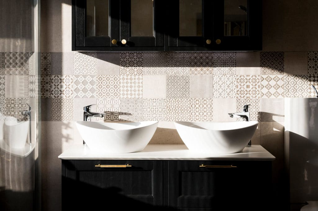Bathroom Sink Design, with stunning tiles